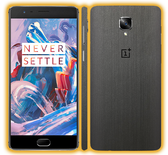 OnePlus 3T - Brushed Metal Skins / Wraps