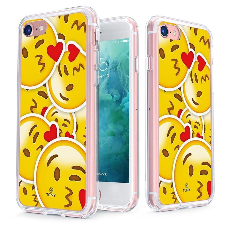 Iphone 8 Kiss Love Emoji Case Slim Protective Cover By Tcny