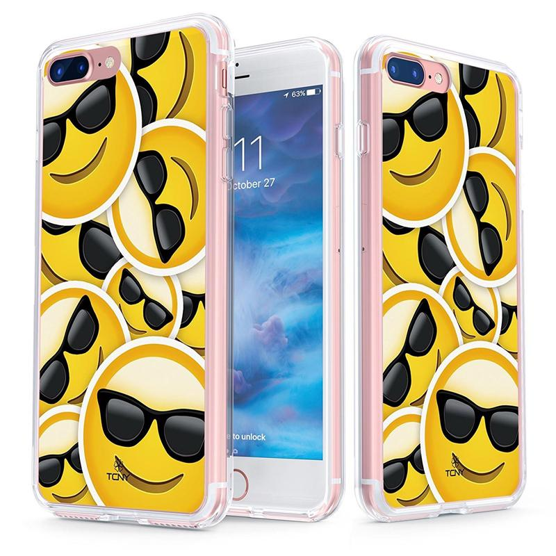 Iphone 7 Plus Cool Sunglasses Emoji Case Slim Protective Cover By Tcny