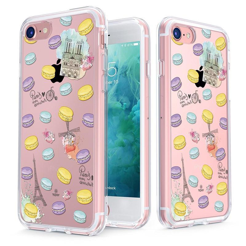 new products dbfa1 af939 Romantic Macaroon Slim Protective Case for iPhone 8