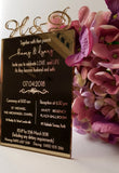 Acrylic wedding invitations - Craft Me Pretty (CMP Lasercraft - Perth Laser cutting)