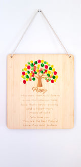 Father's day finger painting board - Craft Me Pretty (CMP Lasercraft - Perth Laser cutting)