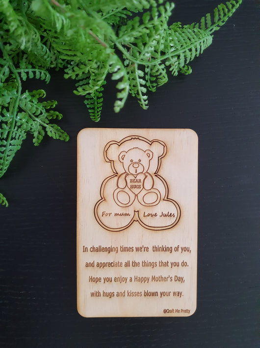 Bear Hug - Craft Me Pretty (CMP Lasercraft - Perth Laser cutting)