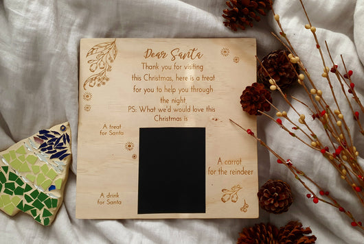 santa board, santa treat board, treat board, christmas board, christmas board, christmas eve board, treat board, christmas, perth laser engraving, personalised gift, perth laser cut, perth laser, perth christmas board, perth santa treat board, perth santa board,