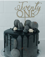 Twenty one Cake Topper - Craft Me Pretty (CMP Lasercraft - Perth Laser cutting)