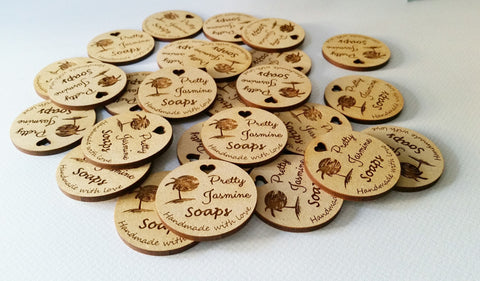 10 pack of round 40x3mm Business tags - Craft Me Pretty (CMP Lasercraft - Perth Laser cutting)