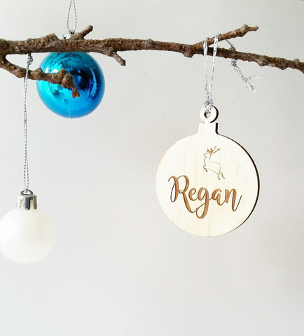 Personalized name bauble - Craft Me Pretty (CMP Lasercraft - Perth Laser cutting)