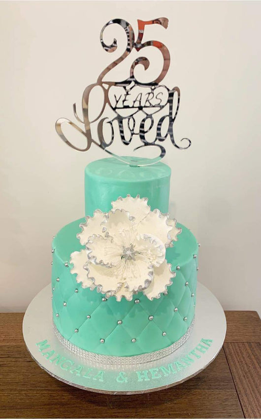 25 years loved cake topper - Craft Me Pretty (CMP Lasercraft - Perth Laser cutting)