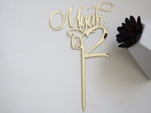 Myah is Two Cake topper - Craft Me Pretty (CMP Lasercraft - Perth Laser cutting)