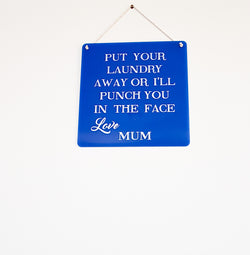 Mum's laundry board - Craft Me Pretty (CMP Lasercraft - Perth Laser cutting)