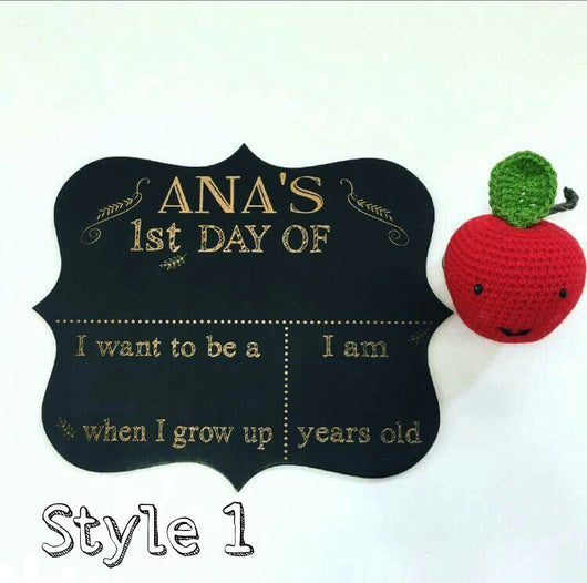 First day of school  chalk painted board (SOLD OUT) - Craft Me Pretty (CMP Lasercraft - Perth Laser cutting)
