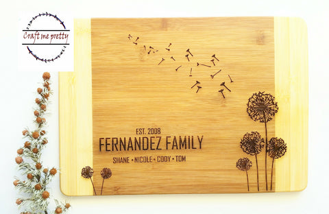 Personalized cutting  Board - Craft Me Pretty (CMP Lasercraft - Perth Laser cutting)