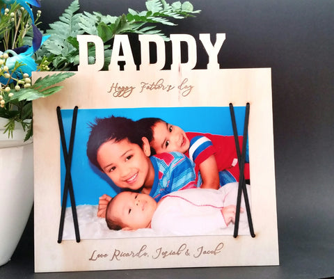 Father's day magnetic frame - Craft Me Pretty (CMP Lasercraft - Perth Laser cutting)