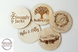 Personalised flatlay logo plaque - Craft Me Pretty (CMP Lasercraft - Perth Laser cutting)