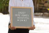 Petite Oak letter board - Craft Me Pretty (CMP Lasercraft - Perth Laser cutting)