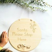 Santa sign - Craft Me Pretty (CMP Lasercraft - Perth Laser cutting)