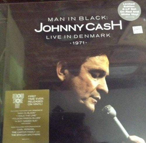 Johnny Cash Man In Black Live In Denmark 1971 Limited Edition Colored 2 LP
