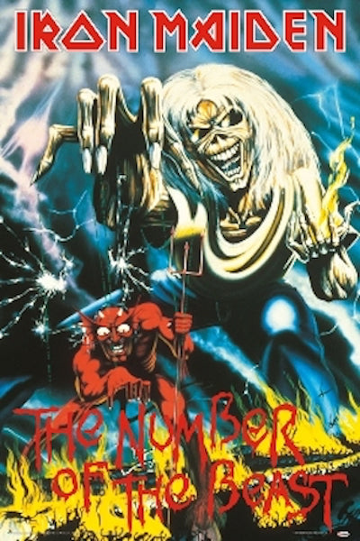 Iron Maiden - Number of the Beast Poster