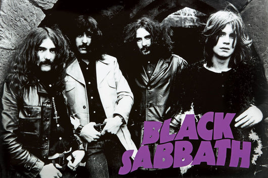 Black Sabbath - Black & White Poster