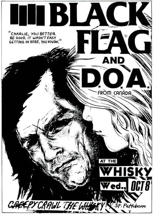 Black Flag - At The Whisky Poster