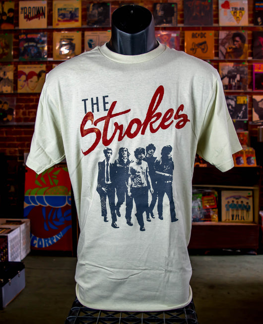 Strokes, The - Beige Band T Shirt