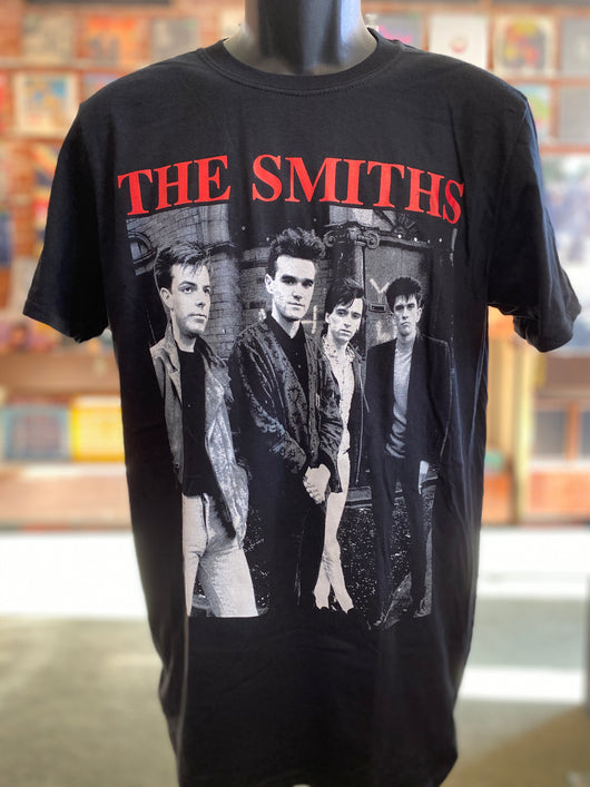 Smiths, The - Red on Black T Shirt