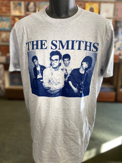 Smiths, The - Blue on Grey T Shirt