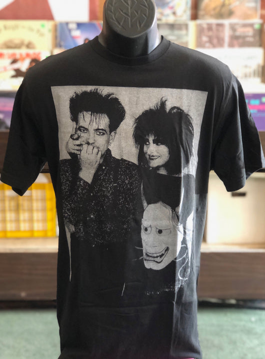 Robert Smith & Siouxsie Sioux - T Shirt (Grey on Black)