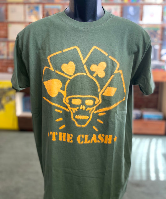 Clash, The - Yellow on Green T Shirt