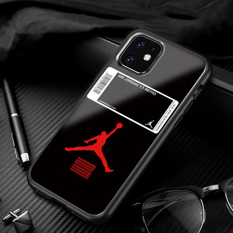 Bred/Concord AJ XI Glass iPhone Case