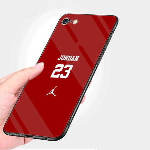 Red MJ Tempered Glass Shell iPhone Case