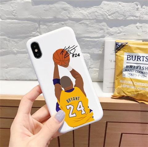 Kobe Bryant Basketball silicone iPhone Case