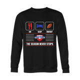 Mens Eat Sleep Fantasy Sweater - FSFinders