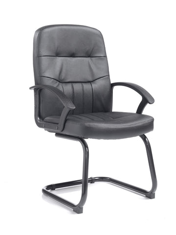 Cavalier Leather Faced Visitors Chair - Zilo Furniture