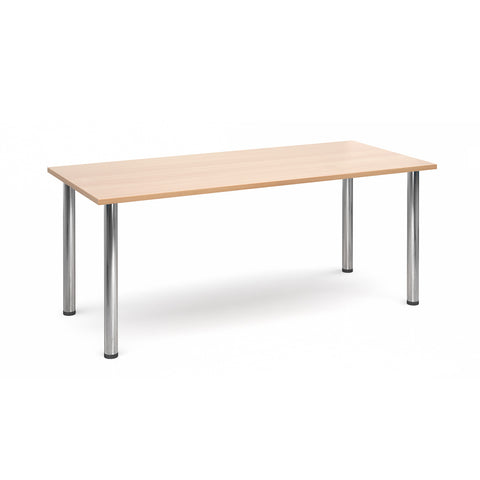 Flexi Table - Rectangular With Chrome Legs - Zilo Furniture