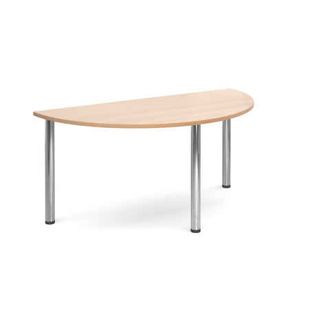 Flexi Table - Semi Circular With Chrome Legs - Zilo Furniture