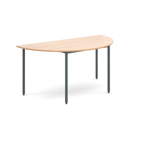 Flexi Table - Semi Circular With Graphite Frame - Zilo Furniture