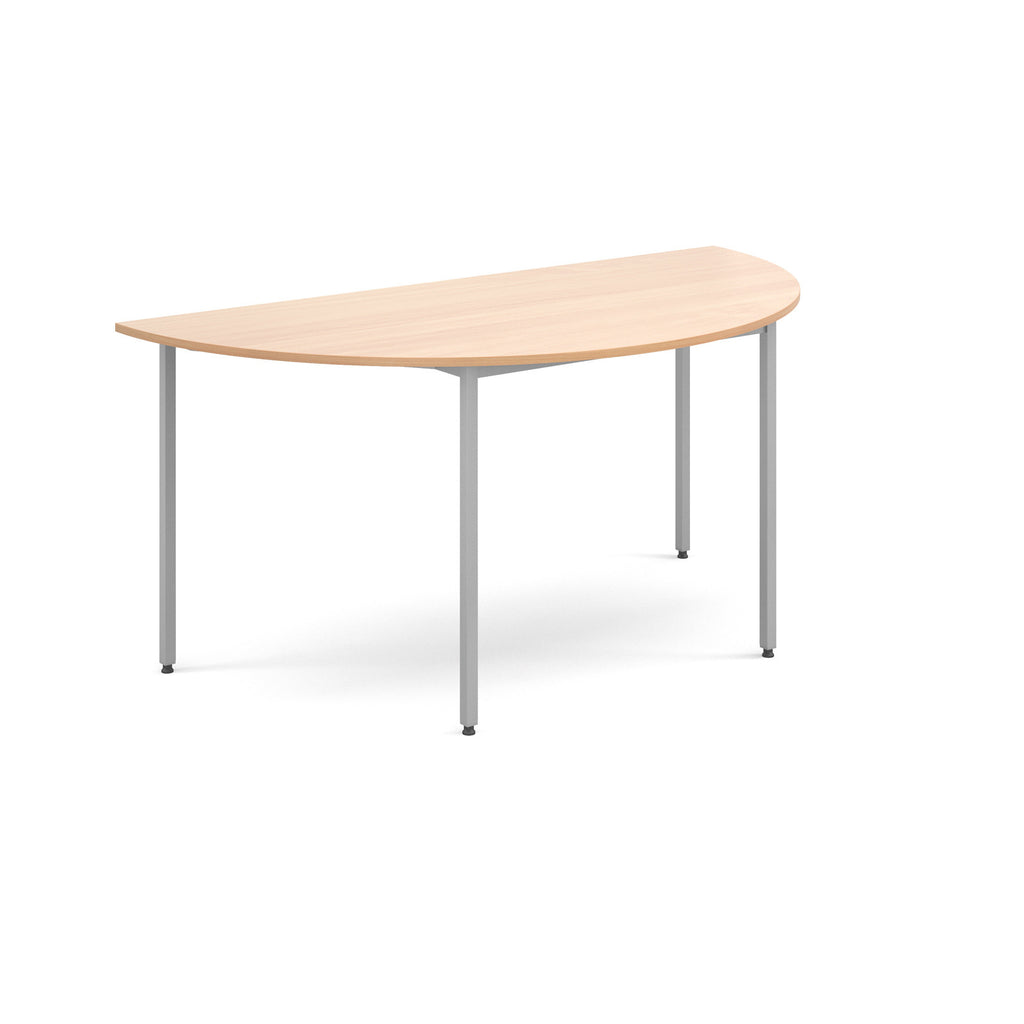 Flexi Table - Semi Circular With Silver Frame - Zilo Furniture