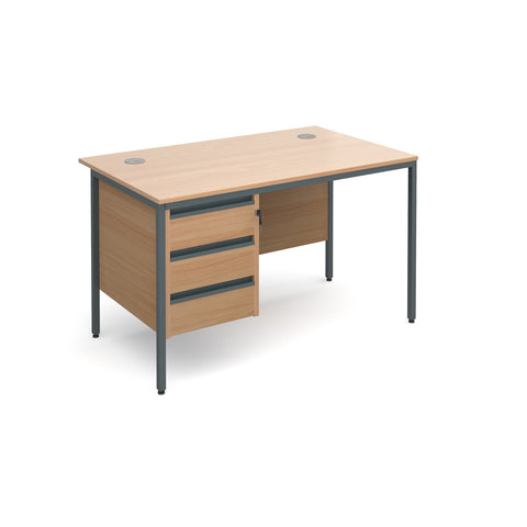 Maestro Straight With 3 Drawer Pedestal - Zilo Furniture