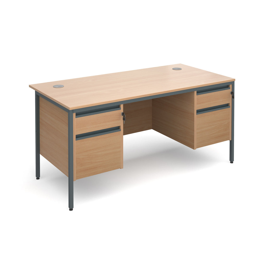 Maestro Straight With Two 2 Drawer Pedestals - Zilo Furniture