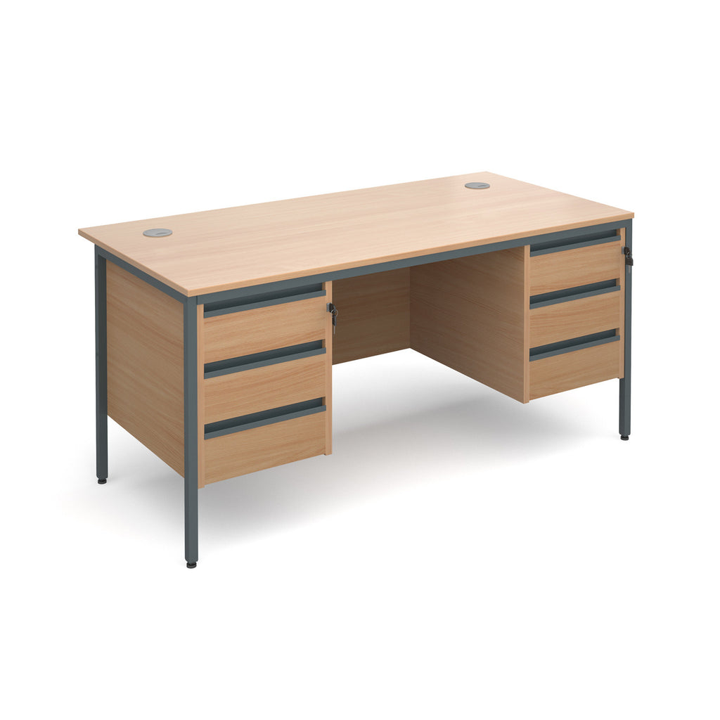 Maestro Straight With Two 3 Drawer Pedestals - Zilo Furniture