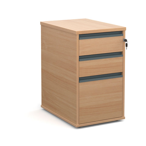 Maestro 25 Desk High 3 Drawer Pedestal - Zilo Furniture
