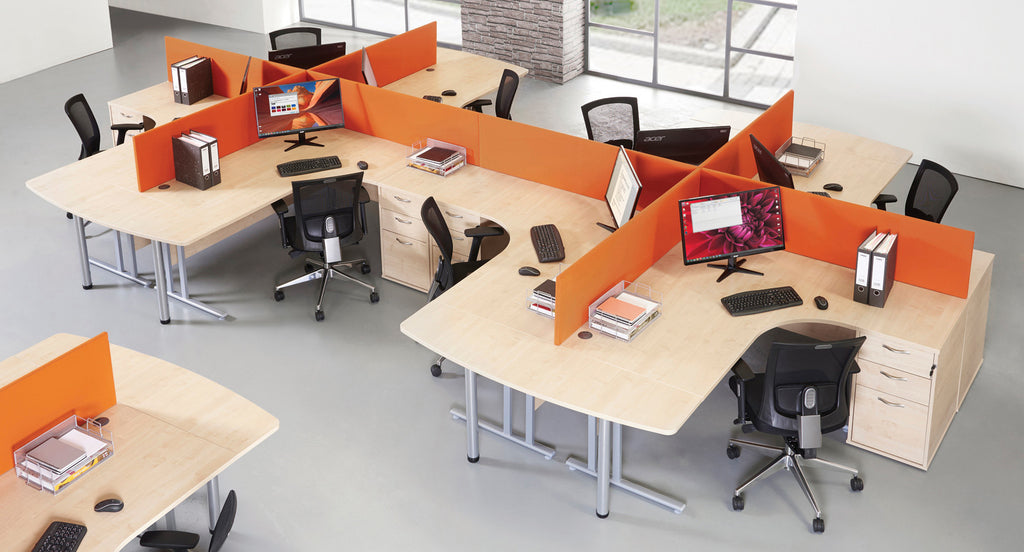 Straight Desk Screen - Zilo Furniture