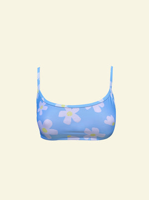 Daisy Scoop Crop - Blue