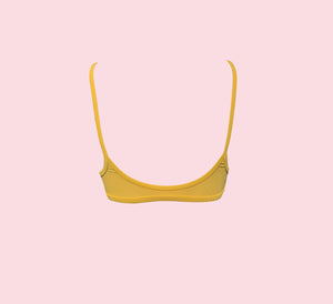 Teardrop Crop - mustard (suede look)