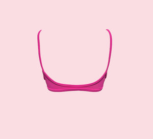 Teardrop crop - pink pop