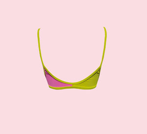 Block Crop - pink pop/limonada