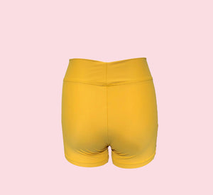 MUSTARD Suede Bike Short