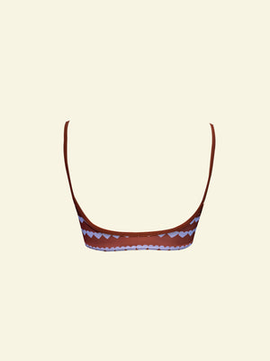 Heart Strings Scoop Crop - Brown