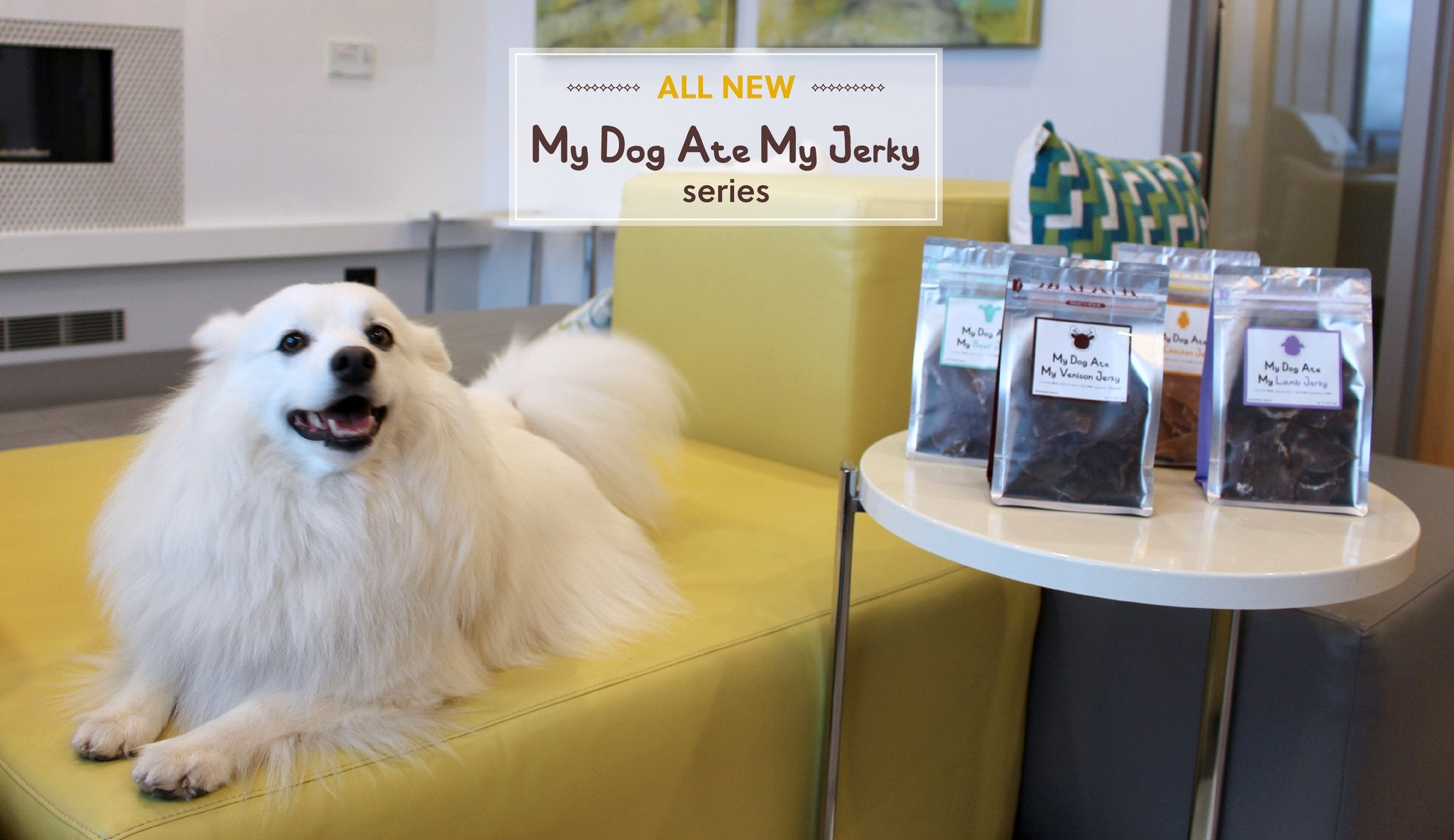 ALL NEW to MONMO TREATS is  the MY DOG ATE MY JERKY Series!